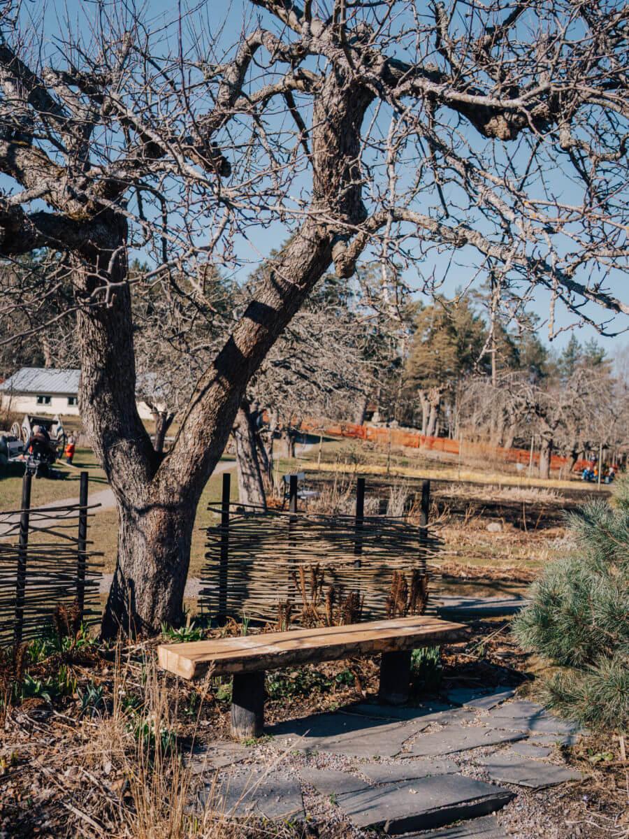 jacksons trädvård återbruk bänk utomhus